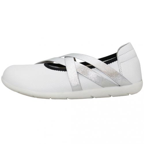 基本款小牛皮氣墊寬楦平底鞋
