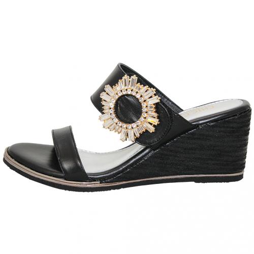 熱帶風小羊皮楔型涼鞋