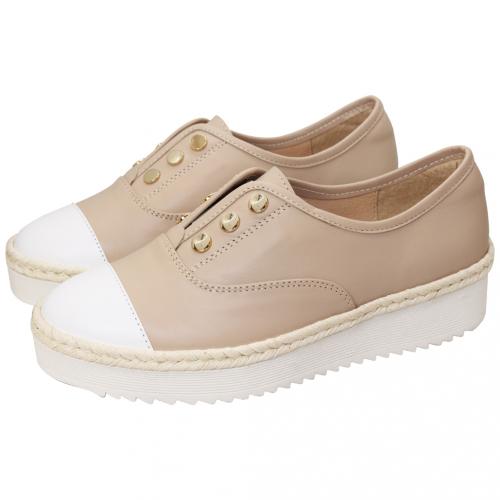 夏日小牛皮草編厚底輕量休閒鞋