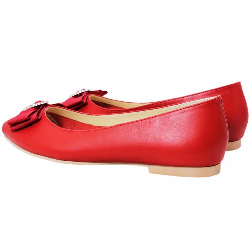優雅水鑽蝴蝶結小牛皮娃娃鞋