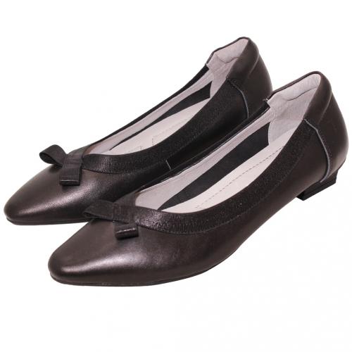 氣質蝴蝶結小羊皮OL微跟鞋