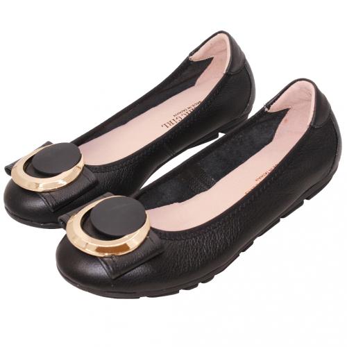 OL款Q彈小牛皮輕量娃娃鞋