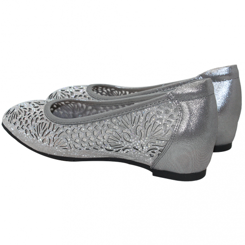 優雅小羊皮玫瑰雷雕微增高方頭鞋