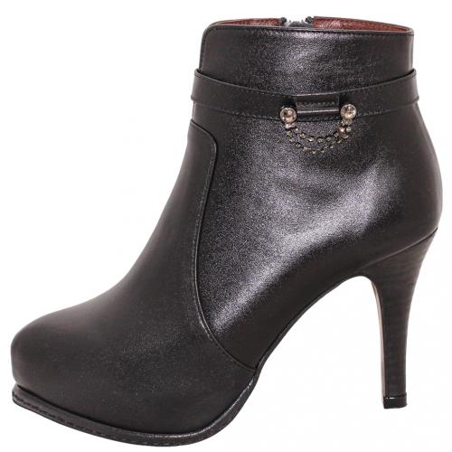 義大利頂級小羊皮水鑽細跟短靴
