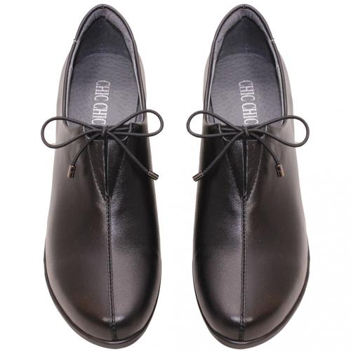 英倫風小牛皮綁帶氣墊踝靴
