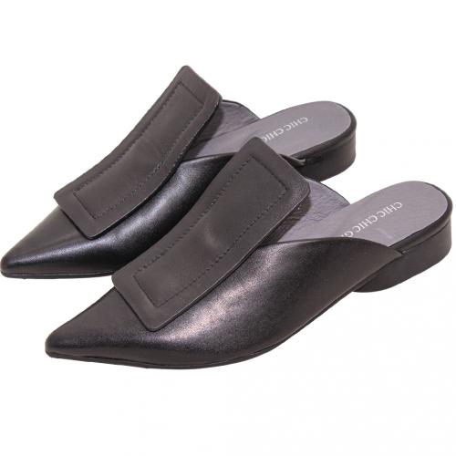 歐美風小羊皮氣墊巫婆穆勒鞋