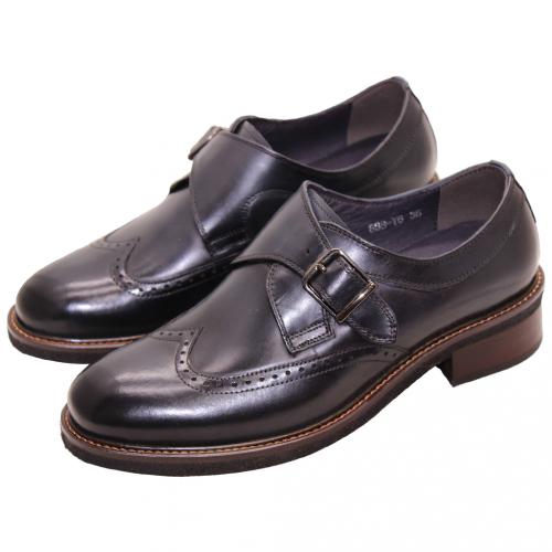 義大利頂級擦色小牛皮孟克鞋