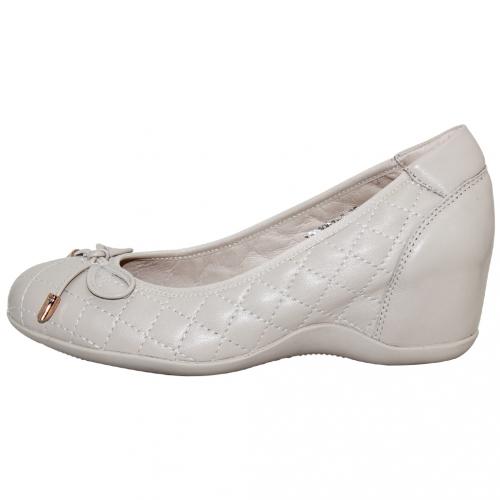 小香風格紋小羊皮輕量楔型鞋