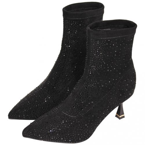 精品風水鑽萊卡酒杯跟襪靴