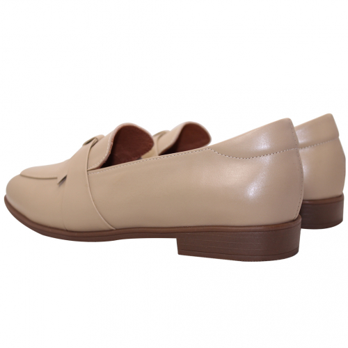英倫風小牛皮寬版樂福鞋