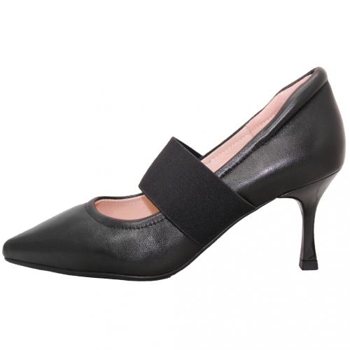 典雅小羊皮瑪莉珍細跟鞋