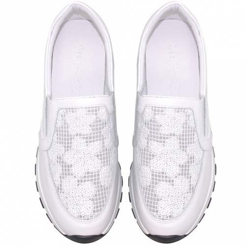 時尚鏤空小牛皮氣墊休閒鞋