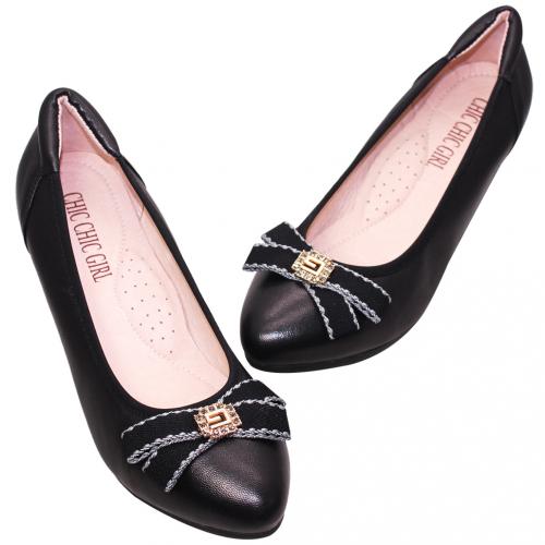 優雅OL小羊皮楔型鞋