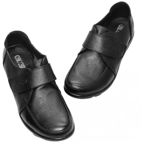 基本款小牛皮氣墊寬楦厚底鞋