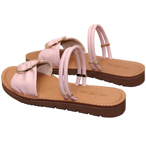 2way小牛皮氣墊平口涼鞋