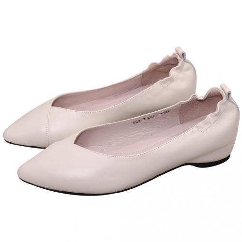 OL款荷葉邊小羊皮微增高娃娃鞋