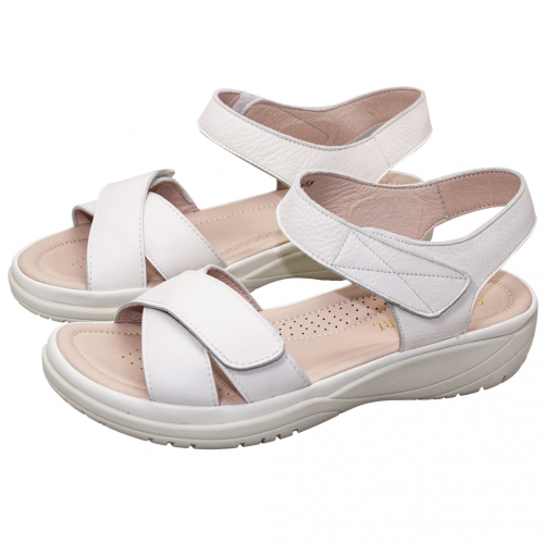 基本款小牛皮輕量化氣墊涼鞋